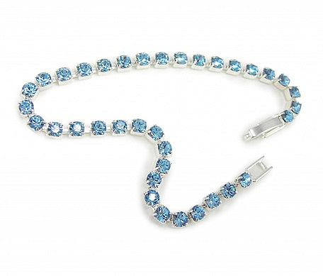 Aqua Crystal Diamante Bracelet - In Swarovski Crystal