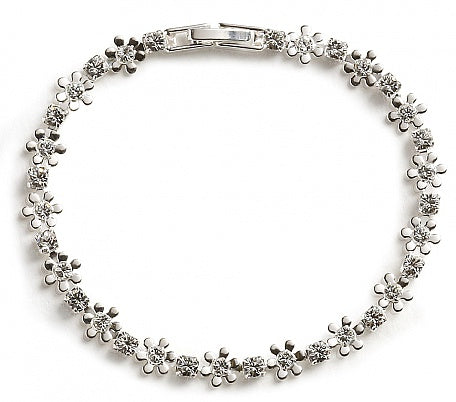 Flower & Crystal Bracelet - In Swarovski Crystal