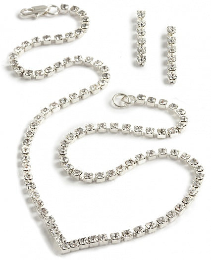 Single Strand V Necklace Jewellery Set