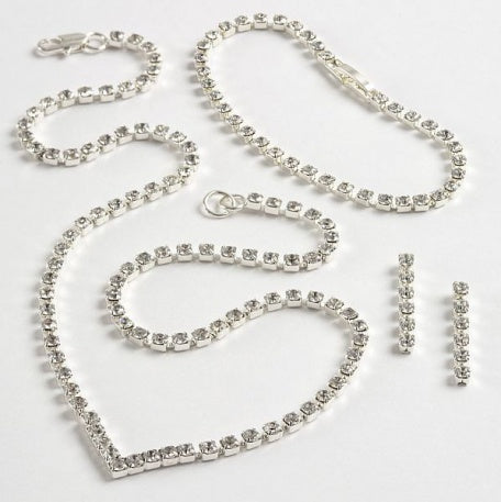Crystal 'V' Jewellery Set