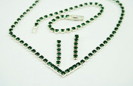 Emerald Crystal Jewellery Set
