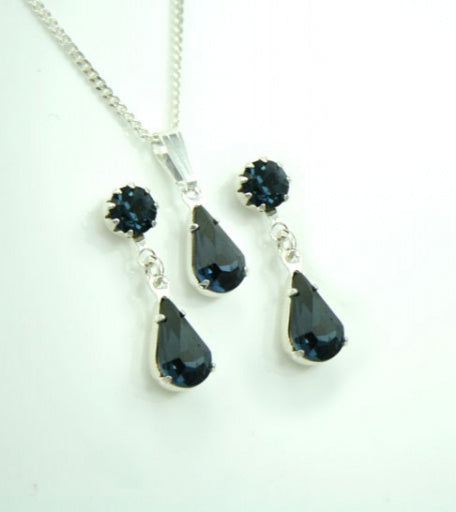Montana Diamante Tiffany & Teardrop Set - Swarovski Crysta