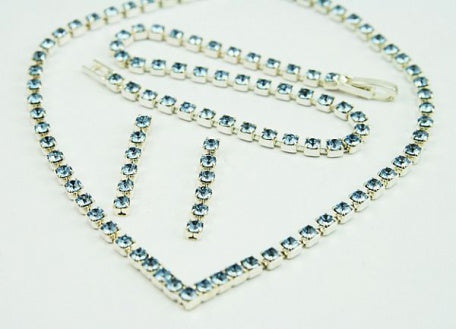 Light Sapphire Crystal 'V' Jewellery Set