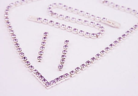 Violet Diamante 'V' Jewellery Set