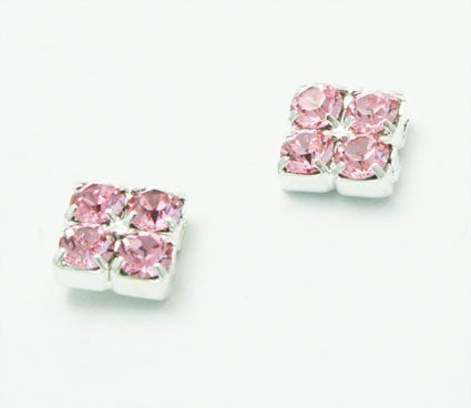 Light Rose Crystal Stud Earrings