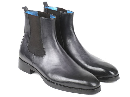 Black & Gray Chelsea Boots