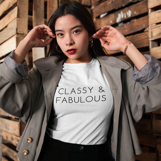 Classy and Fabulous Cotton T-Shirt