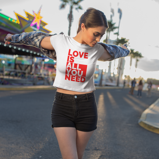 Love Is All You Need Cotton Crop Top