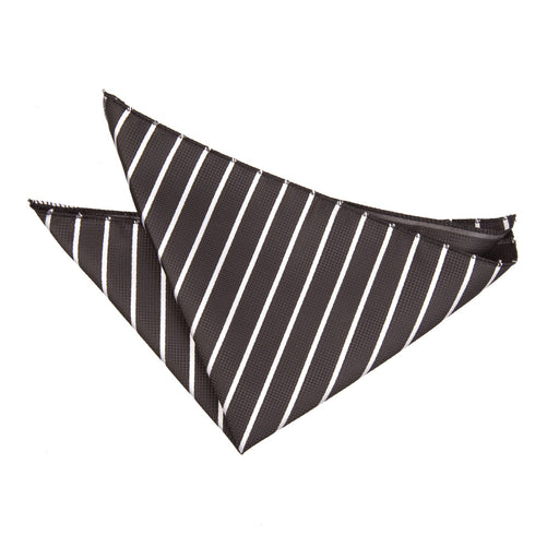 Single Stripe Handkerchief - Black & White