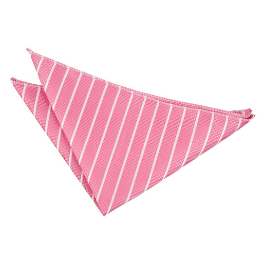 Single Stripe Handkerchief - Hot Pink & White