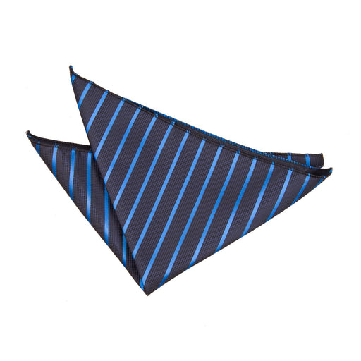 Single Stripe Handkerchief - Navy & Mid Blue