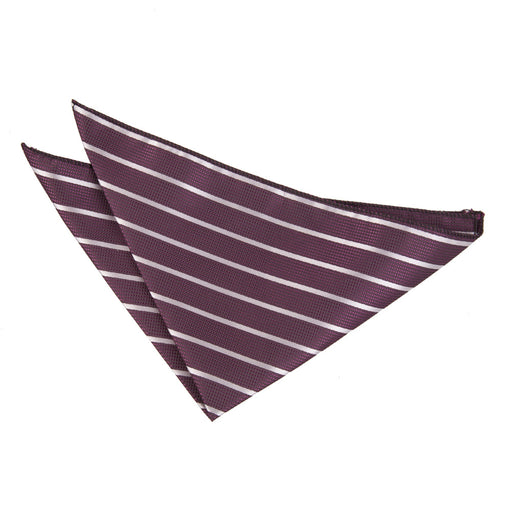 Single Stripe Handkerchief - Purple & Silver