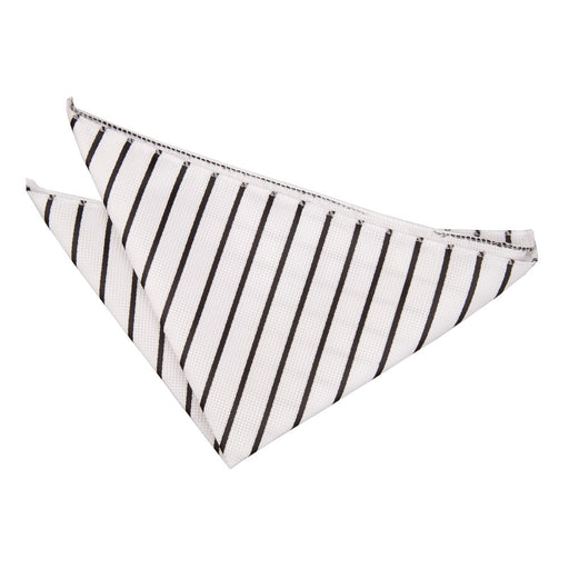 Single Stripe Handkerchief - White & Black