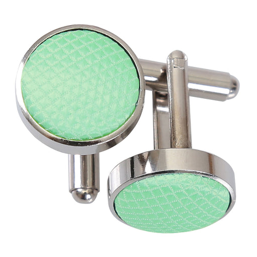 Solid Check Cufflinks - Mint Green