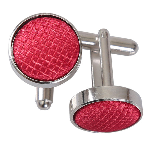 Solid Check Cufflinks - Red