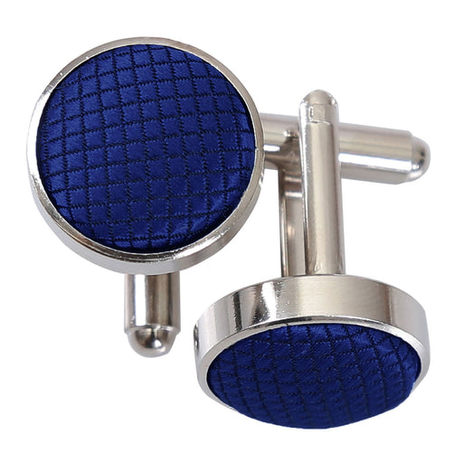 Solid Check Cufflinks - Royal Blue