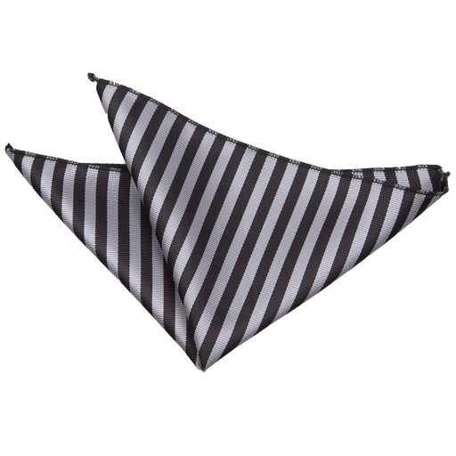 Thin Stripe Handkerchief - Black & Grey