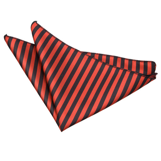 Thin Stripe Handkerchief - Black & Red