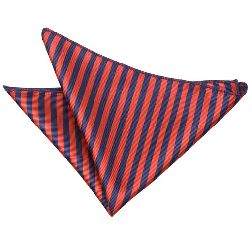 Thin Stripe Handkerchief - Navy Blue & Red