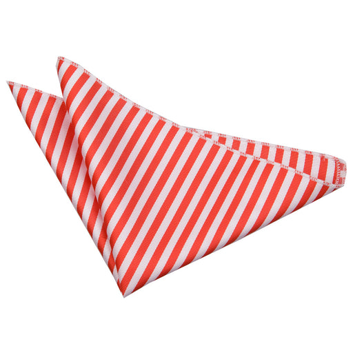 Thin Stripe Handkerchief - White & Red
