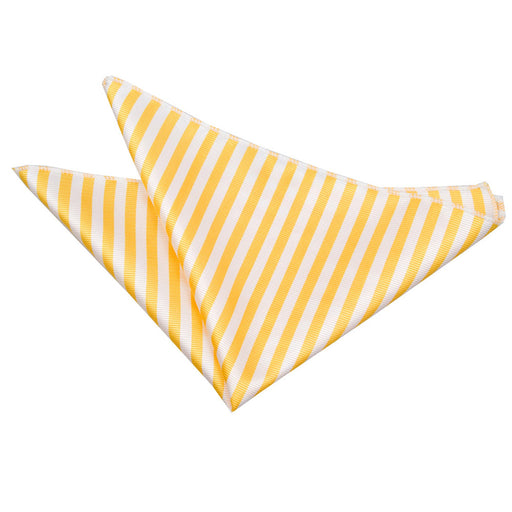 Thin Stripe Handkerchief - White & Yellow