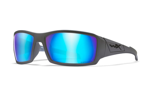 TWISTED CAPTIVATE POL BLUE MIRROR/MATTE GREY FRAME