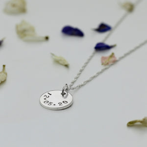 Date Disc Necklace