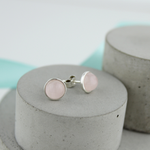 Load image into Gallery viewer, Rose Quartz Studs