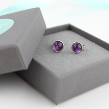 Load image into Gallery viewer, Amethyst Studs