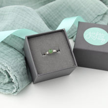 Load image into Gallery viewer, Silver Aventurine Gemstone Ring