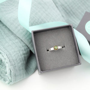 Silver Labradorite Gemstone Ring