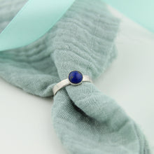 Load image into Gallery viewer, Silver Lapis Lazuli Gemstone Ring