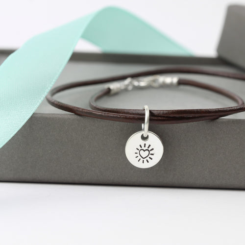 Heart Burst Leather Bracelet