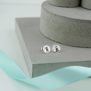 Lighthouse Earrings Sterling Silver