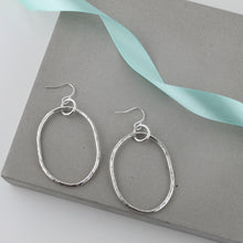 Load image into Gallery viewer, Long Dangly Oval Earrings