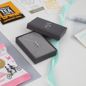 Encouragement Gift Box - Silver Cross Necklace
