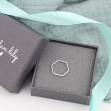 Load image into Gallery viewer, Hexagon Silver Midi Ring
