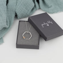 Load image into Gallery viewer, Bee Hexagon Necklace
