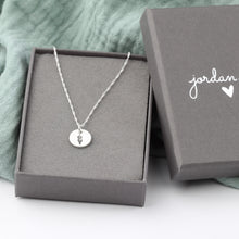 Load image into Gallery viewer, Stamped Flower Necklace