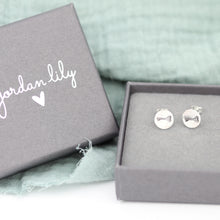 Load image into Gallery viewer, Key Stamped Stud Earrings