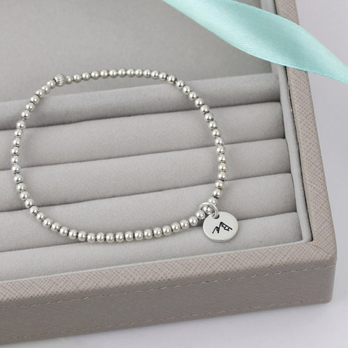 Mountain Silver Bead Bracelet