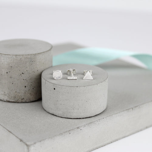 Set of Three Simple Studs