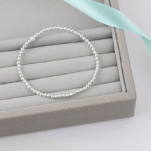 Load image into Gallery viewer, Plain Silver Bead Bracelet