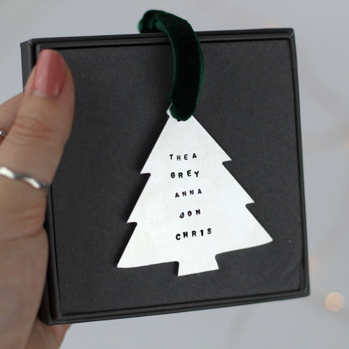 Family Names Tree Decoration