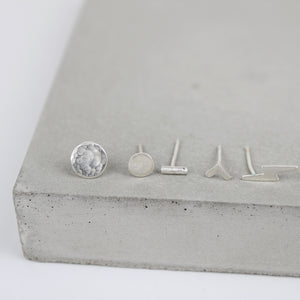 Mix and Match Studs Sterling Silver