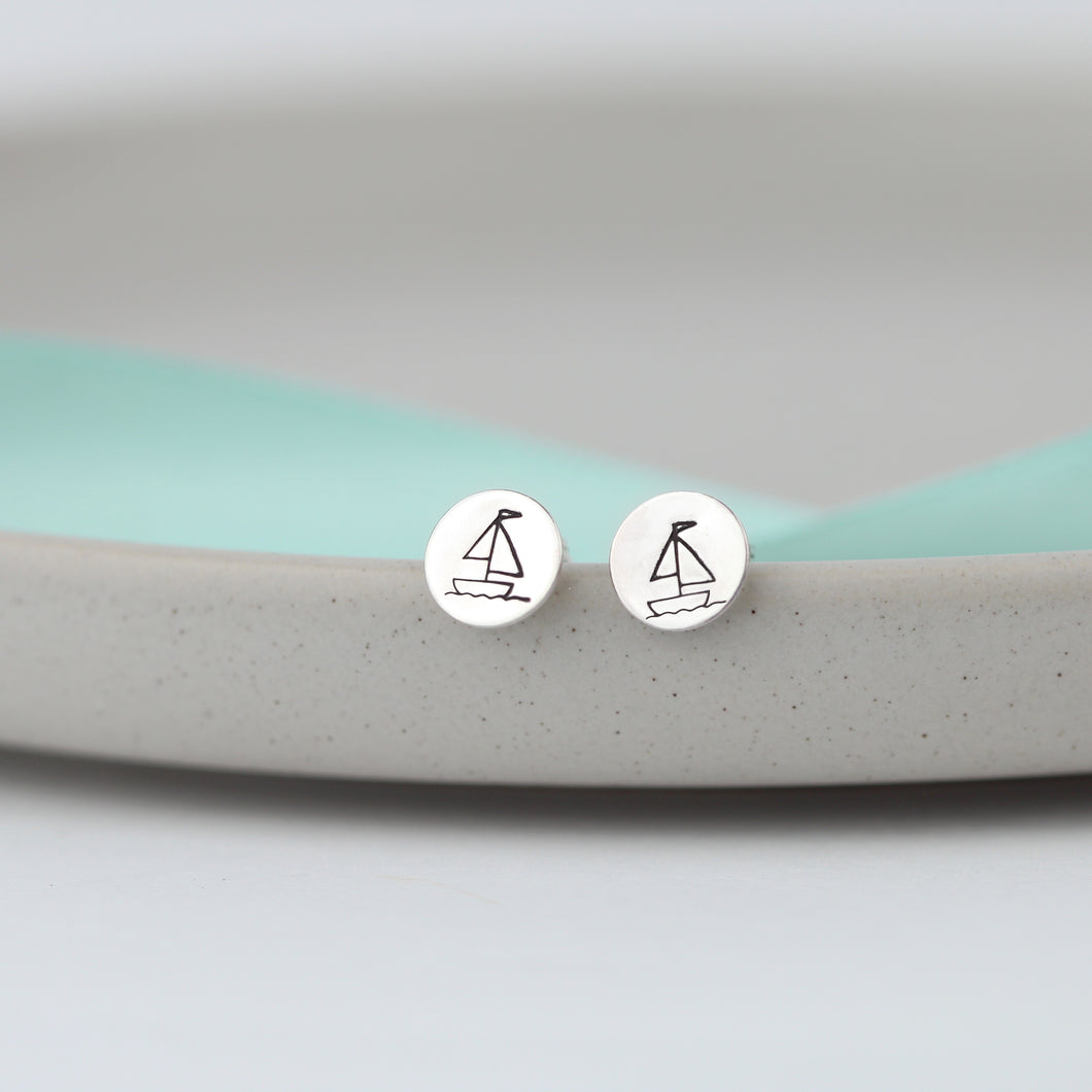 Sailing Boat Stud Earrings