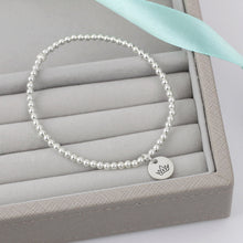 Load image into Gallery viewer, Crown Silver Bead Bracelet