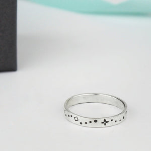 Celestial Stamped Ring