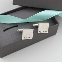 Load image into Gallery viewer, Bible Verse Cufflinks