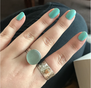 Supply Your Own Seaglass Ring